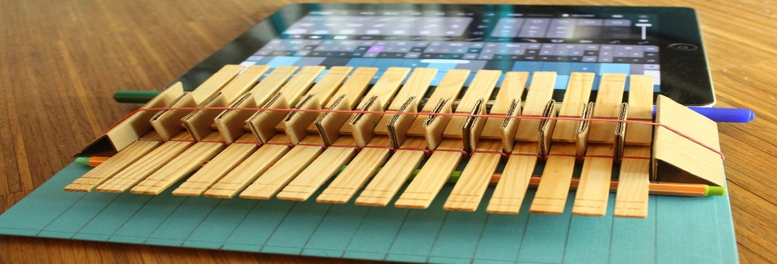Diy ciothespin tastiera per ipad fai da te for Piano piano fai da te online