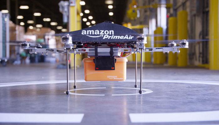 amazzone consegna con drone